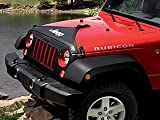Black, T-style, hood cover matches top and tire covers, with Jeep logo