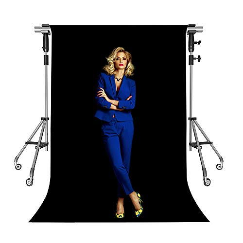Photography Background Black Polyester Cloth Backdrop 5x7ft Studio Props Photo Booth YouTube Backdrop MEETSIOY HDLMT2