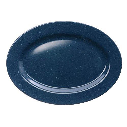 (GET Enterprises inc Texas Blue Centennial Series Melamine Oval Platter, 0.75 inch Deep - 24 per)