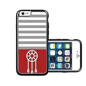 RCGrafix Brand Dream-Catcher Teal & Grey Stripes Black iPhone 6 Case - Fits NEW Apple iPhone 6 wangjiang maoyi