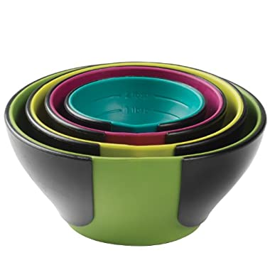 Chef'n SleekStor Pinch Pour Prep Bowls, Trend Color Set