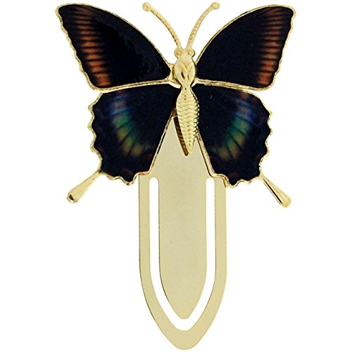 The Olivia Collection Goldtone Multicoloured Butterfly Bookmark SC1224
