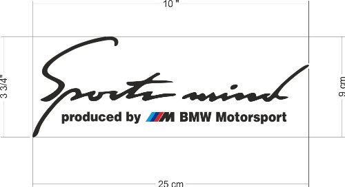 Sports Mind Produced By M Bmw Performance Sticker Decal M1