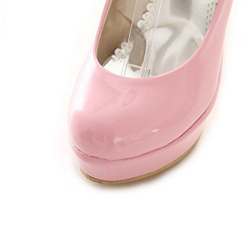 Wedges Pink Urethane Platform Wedges Ladies Buckles BalaMasa Pumps Metal Shoes qx5w6zpHST
