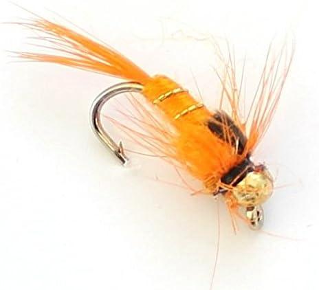 6 oder 12 x Orange K/öder Trout Fliegen Trout Fliegen Fliegenfischen Lakeland Fishing Supplies 3