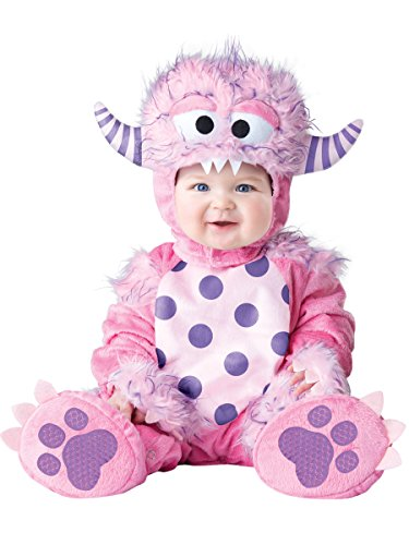 [InCharacter Baby Girls' Lil' Monster Costume, Pink, Medium] (Girls Monster Halloween Costumes)