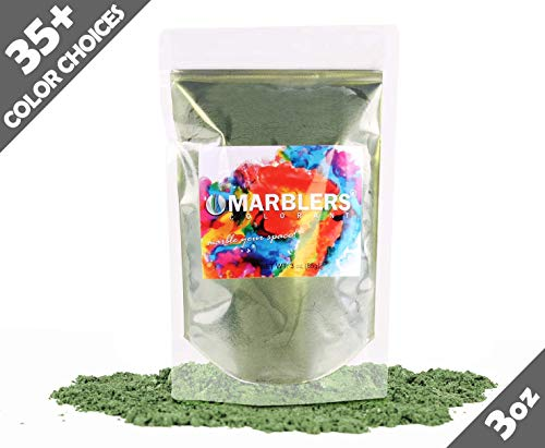- Marblers Powder Colorant 3oz (85g) [Forest Green] | Pearlescent Pigment | Tint | Pure Mica Powder for Resin | Dye | Non-Toxic | Great for Paint, Concrete, Epoxy, Soap, Nail Polish, Cosmetics