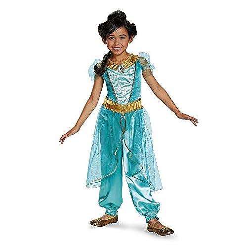 Jasmine Deluxe Disney Princess Aladdin Costume SMALL/4-6X  sc 1 st  Amazon.com & Princess Jasmine Costume: Amazon.com