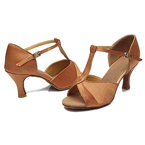 Modelo Baile Mujer Hipposeus Estándar De Marrón Latinos 7cm 259 Zapatos qnX4Hf4wY