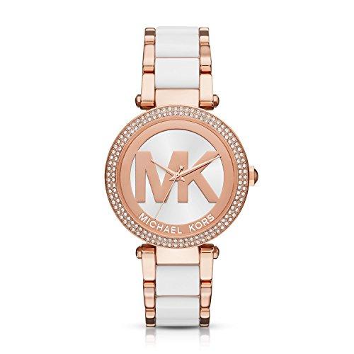 Michael Kors Women's Parker Rose Gold-Tone Watch - Gold Michael Kors Watch Pave