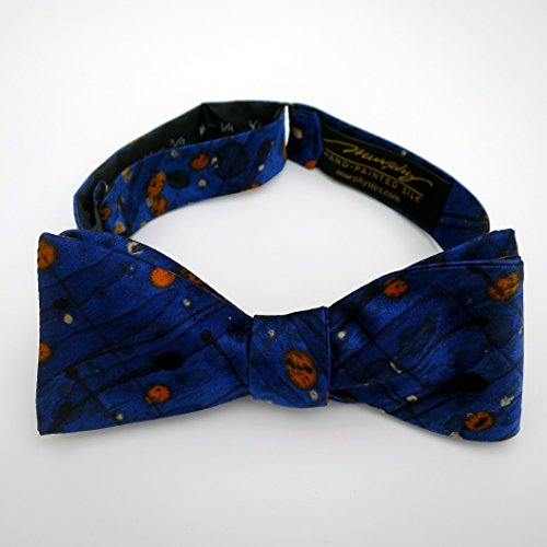 100% Silk Hand-Painted Hand-Made Men's Self Tie Bow Tie ''Rockslide'' Art to Wear by Murphyties by Murphyties Inc.