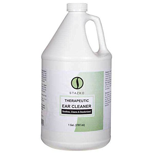 Stazko Pet Ear Cleaner Gentle Therapeutic Formula Dog Groomer One Gallon Size by Stazko