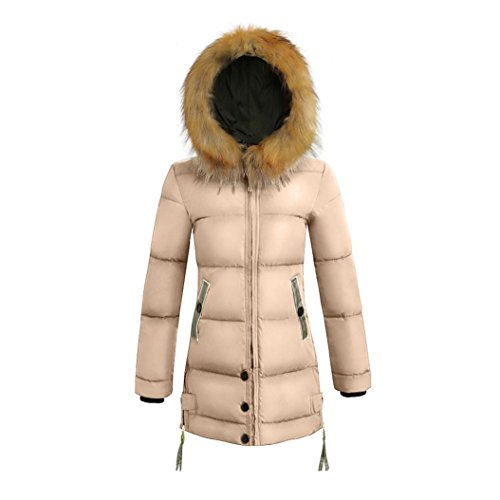 Jacket Slim Princer Warm Khaki Ladies Padded Down Womens Coat Winter New Parka Hooded Long F0qfEE