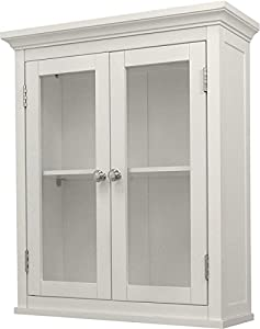 URGE Canoe White Wall Cabinet with 2 Doors 20x7x24 inches (WxDxH)