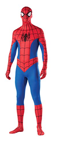 Spiderman Bodysuit Costume (Rubie's Costume Men's Marvel Universe Spider-man Adult 2nd Skin Costume, Multi, Large)