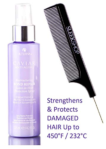 Alterna Caviar Anti Aging RESTRUCTURING BOND REPAIR Leave-In HEAT PROTECTION SPRAY, Strengthens & Protects DAMAGED HAIR Up to 450°F / 232°C (Stylist Kit) Leave In Hairspray (4.2 oz / 125 ml)
