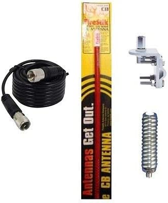 S 30 2 ITEMS NEW CB,HAM RADIO ANTENNA STAINLESS STEAL SPRING WORKMAN S-30,S30