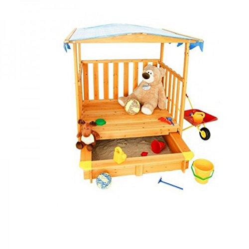 Coemo Sandkasten mit Veranda - Coemo Sandkasten mit Spielhaus