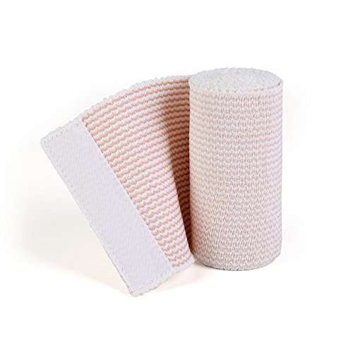 - Hospora Cotton Elastic bandage Beige Color/Matrix Style with two soft self-closure stick 4