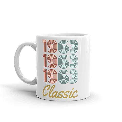 1963 Classic 11 Ounce Mug, 55th Birthday Mug, 55 Year Old Mug, Born in 1963 Mug, Gift for Him or Her, Vintage Retro Coffee Mug With Birth Year Saying