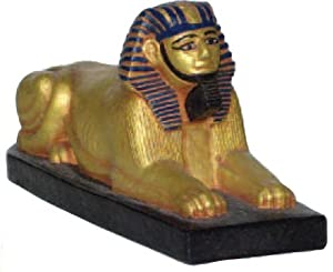 Amazon Com Egyptian Sphinx Miniature Gold And Color 4 Quot L
