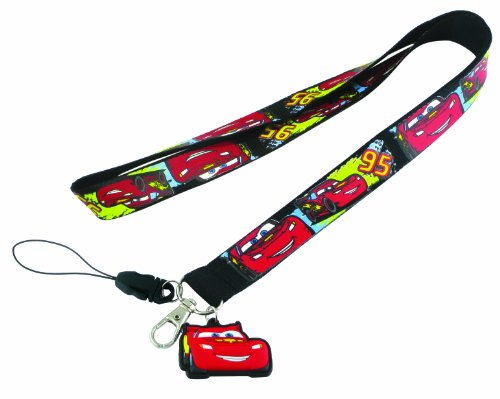 Disney McQueen Cars Lanyard with Soft Touch Dangle (Cars Lanyard)