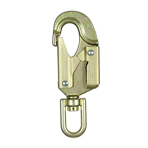 - Fusion Climb Sector Carbon Steel Drop Forged Double Locking Swivel High Strength Gate Snap Hook Carabiner Gold