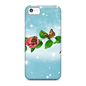 New Iphone 5c Case Cover Casing(delightful Butterflies)