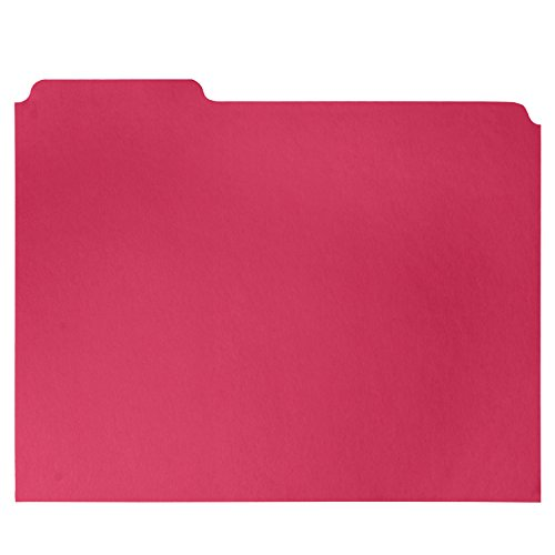 File Folder, 1/3 Cut Tab, Letter Size, Red, Great for organizing and easily file storage, 100 Per Box Photo #5