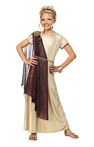 Greek Goddess Costume Girls, Kids Halloween Athenian Princess Cosplay Dress (Tag Size-XL)