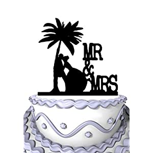 41LvWuq1bPL._SS300_ Beach Wedding Cake Toppers & Nautical Cake Toppers