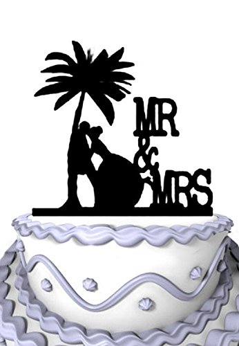 41LvWuq1bPL The Best Palm Tree Wedding Cake Toppers