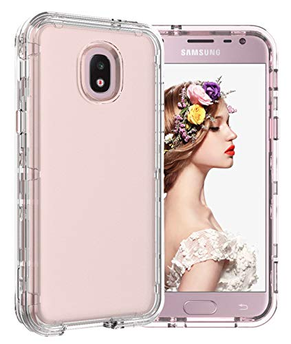 buy popular 143ab b38b3 Galaxy J3 2018 Case J3 V Case 3 in 1Clear Cute Design Shockproof Heavy Duty  Protective Hard Shell Armor Bumper TPU Soft Rubber Silicone Cover Phone ...