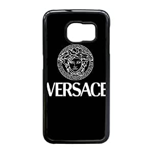 Samsung Galaxy S6 Edge Black Cell Phone Case Versace Brand Logo Custom Case Cover A11U524682