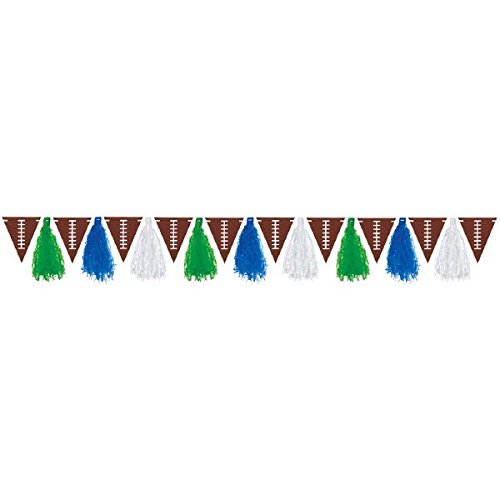 - Football Frenzy Birthday Party Tassel Garland Decoration, Paper, 10'
