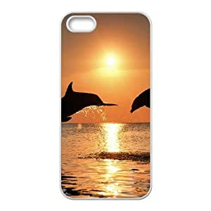 Dolphin iPhone 4 4s Cell Phone Case White SA9691504