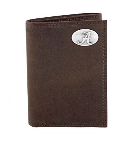 Alabama Crazyhorse Leather Trifold Wallet