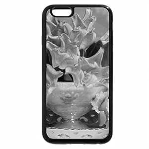 iPhone 6S Plus Case, iPhone 6 Plus Case (Black & White) - Romantic Pink Blossoms