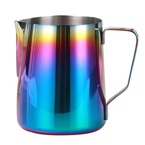 Coffee Pitcher Beers Cup Water Bottle, Elevin(TM) Colorful Stainless Steel Coffee Pitcher Latte Milk Art Frothing Jug (A - -