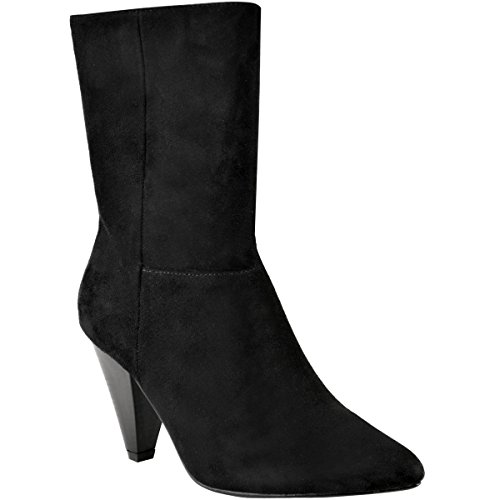 Cone Heel (Fashion Thirsty Womens Cone Block Mid Heel Oversized Pointed Toe Ankle Boots Size 8)