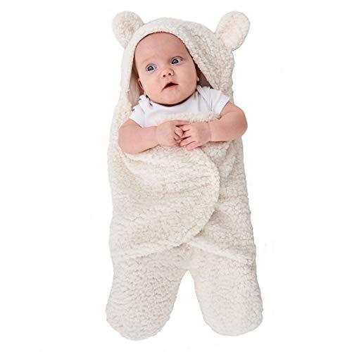 Truedays Newborn Sleeping Wrap Swaddle Baby Cotton Plush Boys Girls Cute Receiving Blanket Sleeping Bag Sleep Sack (0-12 Month)