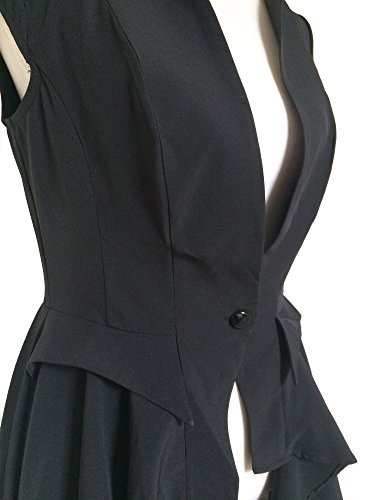 Femme sans Goths noir Steampunk Trench Manteau noir manche Fz1KPxpw