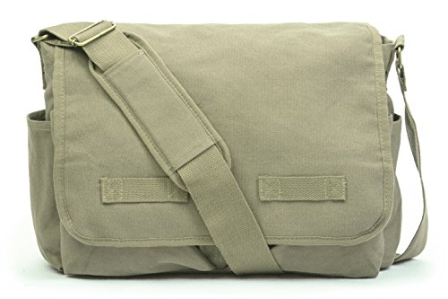 Sweetbriar Classic Messenger Bag - Vintage Canvas Shoulder Bag for All-Purpose -