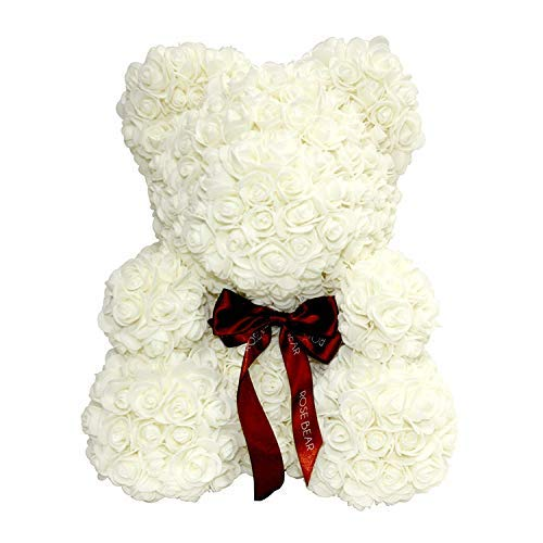 Rose Bear Teddy Bear Cub Forever Artificial Rose Anniversary Christmas Valentines Gift 14