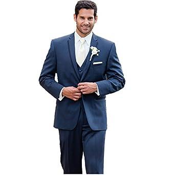 mys Men personalizados de hecho esposo boda esmoquin traje ...