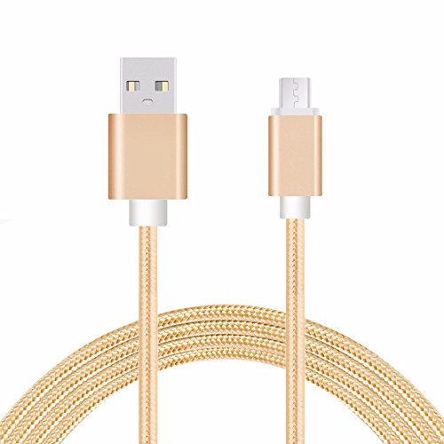 LuckyNV Micro USB Cable 2A 1m Carga rápida Nylon USB Sincronización de datos Teléfono móvil Adaptador Android Cable...