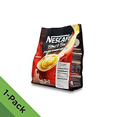 Nescafé IMPROVED 3 in 1 ORIGINAL (was named REGULAR) Premix Instant Coffee - Creamier Coffee Taste & More Aromatic - 19g/Stick - 30 Sticks TOTAL