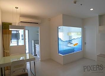 Hauseinrichtung  AQUARIUM Fenstersticker Hauseinrichtung 190 x 160 cm | PIXERS ...