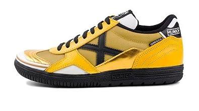 c7e0fc24b7e MUNICH - Gresca 102 - Indoor Soccer/Futsal Shoe - Yellow/Black - 12