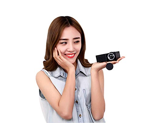 TOUYIN UC2B Portable Mini Projector, Multimedia Video Projector, Home Cinema Entertainment, Outdoor Movie & Gaming (Without HDMI/AV Interface Without Remote Control Function)